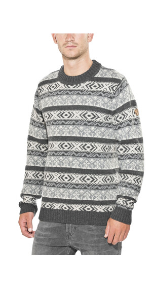 Fjällräven Övik Folk Knit Sweater Men Dark Grey